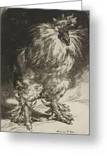 Long Live The Tzar Vive Le Tzar Felix Bracquemond 1833 - 1914 Greeting Card