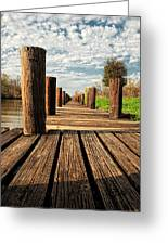 Long Long Way To The Bayou - Louisiana Dock Greeting Card