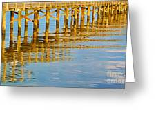 Long Wooden Pier Reflections Greeting Card