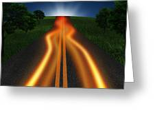 Long Road In Twilight Greeting Card