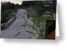 Long Road Greeting Card