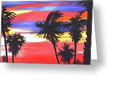 Long Skinny Sunset Greeting Card