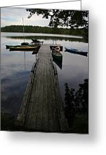 Long Walk On Dock Greeting Card