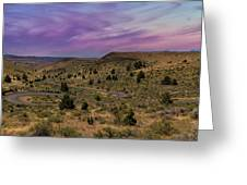 Long Winding Road In Central Oregon Greeting Card