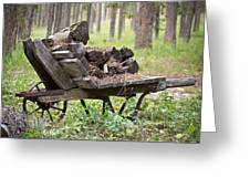 Long Winter Coming - Vintage Wheelbarrow - Casper Wyoming Greeting Card