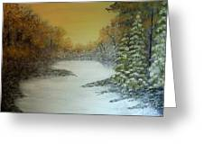 Long Winters Morning Greeting Card
