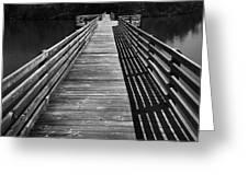 Long Wooden Bridge Greeting Card by Kelly Hazel