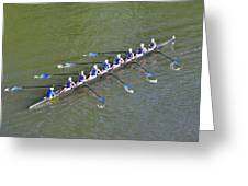 Longboat - Rowing On The Schuylkill River Greeting Card