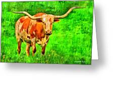 Longhorn 2 - Pa Greeting Card