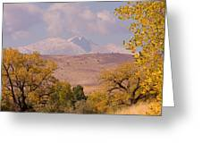 Longs Peak Diamond Autumn Shadow Greeting Card