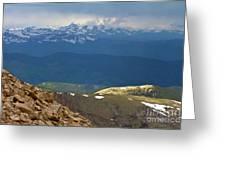 Longs Peak From Mount Evans Colorado Greeting Card