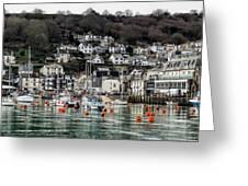 Looe Harbour - Cornwall Greeting Card