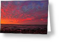 Looking Across At Sundown Greeting Card