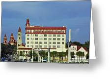 Looking Back At St Augustine Greeting Card