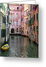 Looking Down A Venice Canal Greeting Card