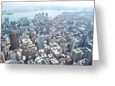Looking Down At New York 2015  Greeting Card