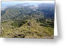 Looking Down From The Top Of Mount Tamalpais 2 Greeting Card