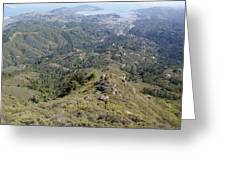 Looking Down From The Top Of Mount Tamalpais Greeting Card