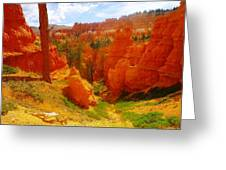Looking Down In Bryce Greeting Card