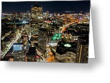 Looking Down On Boston Boston Ma Greeting Card