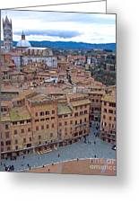 Looking Down On Il Campo Greeting Card