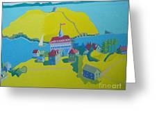 Looking Down On Monhegan And Manana Islands Greeting Card