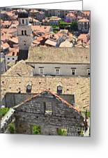 Looking Down On Old Dubrovnik Greeting Card