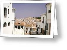 Looking Down Over Antequera  From Near The Church Of Santa Maria La Mayor  Greeting Card