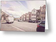 Looking Down Redland Road D Bristol England Greeting Card