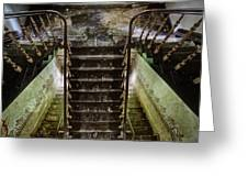 Looking Down The Stairs - Urban Exploration Greeting Card