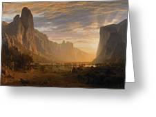 Looking Down Yosemite Greeting Card