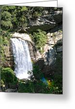 Looking Glass Falls Nc Greeting Card