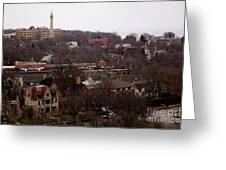 Looking North From  Lafayette And Summit. Greeting Card