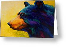 Looking On II - Black Bear Greeting Card