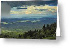 Looking Over The Valley Greeting Card