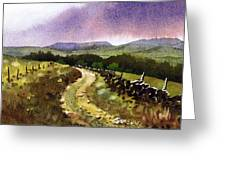 Looking Towards Pole Moor Greeting Card