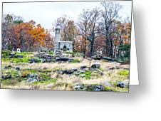 Looking Towards The Top Of Little Round Top Greeting Card