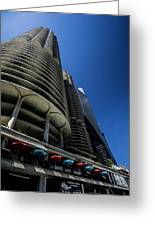 Looking Up At Chicago's Marina Towers Greeting Card
