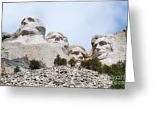 Looking Up At Mount Rushmore National Monument South Dakota Greeting Card