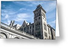 Looking Up At Old City Hall Greeting Card