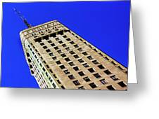 Looking Up At The Foshay Tower Greeting Card