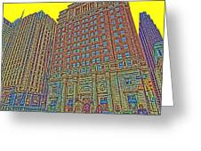 Looking Up In Love Park Greeting Card