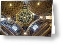 Looking Up In St Peter's Basilica Greeting Card