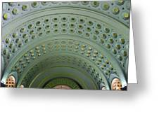 Looking Up In Union Station -- A Westward View Greeting Card
