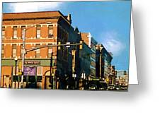 Looking Up Main Street Greeting Card