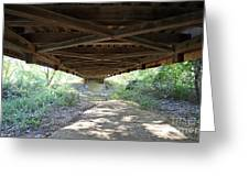 Looking Up Nevins Bridge Indiana Greeting Card