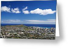 Lookout View Of Honolulu Greeting Card