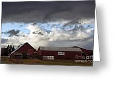 Looming Storm In Sumas Washington Greeting Card