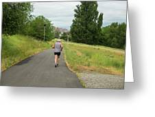 Loop Trail Runner Greeting Card