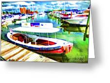 Loose Cannon Water Taxi 1 Greeting Card by Lanjee Chee